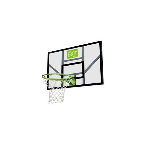 EXIT Galaxy basketbalbord met ring en net - groen/zwart