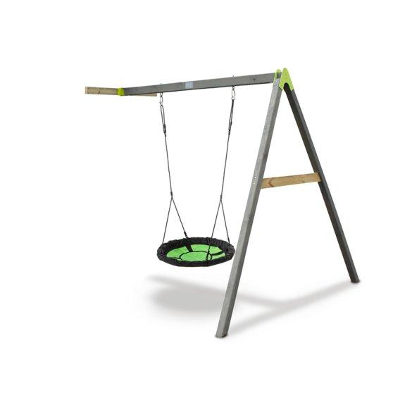 Afbeelding van EXIT Aksent Swibee aanbouw nestschommel voor houten speeltoren